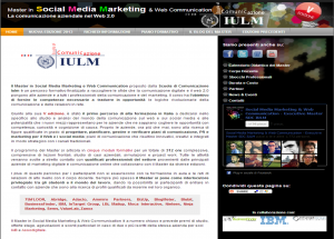 Master in Social Media Marketing - IULM